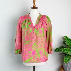 Lilly Pulitzer | Silk Queen of Hearts Elsa Top